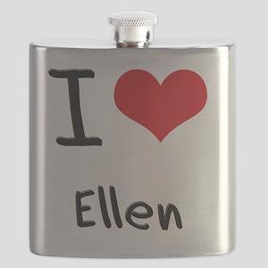 I Love Ellen Flask