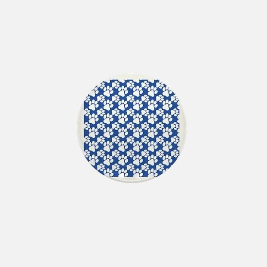 Dog Paws Royal Blue-Small Mini Button