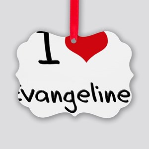 I Love Evangeline Picture Ornament