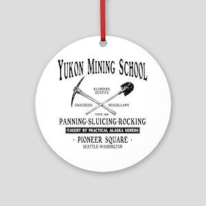 Yukon Mining School Round Ornament