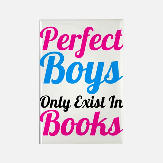Perfect Boys Only Exist In Books Rectangle Magnet