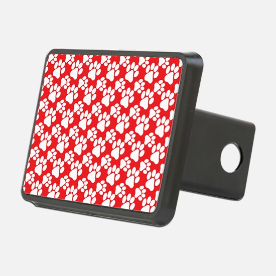 Dog Paws Red-Small Hitch Cover