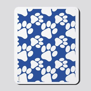 Dog Paws Royal Blue Mousepad