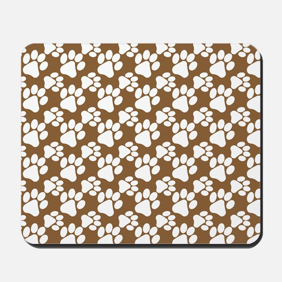 Dog Paws Brown-Small Mousepad