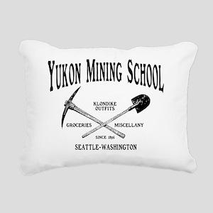 Yukon Mining School Rectangular Canvas Pillow