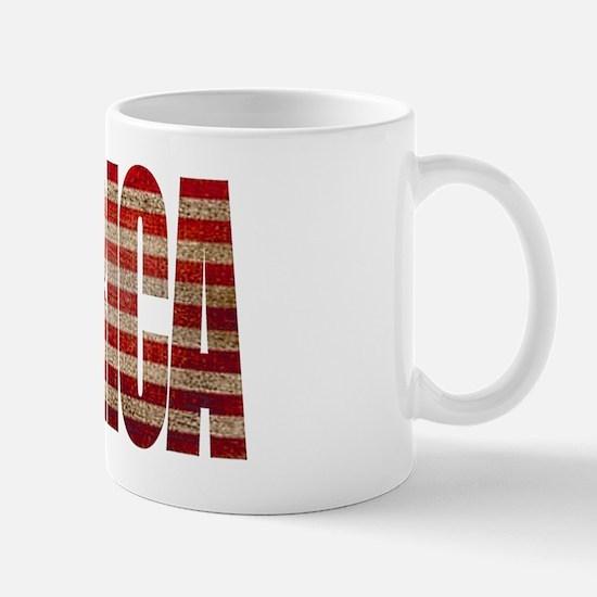 Vintage MERICA U.S. Flag Mug