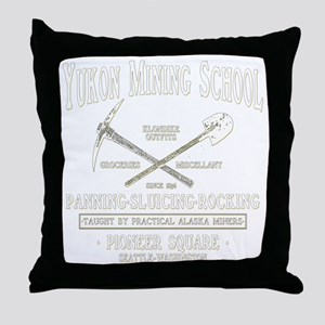 Yukon Mining School Throw Pillow