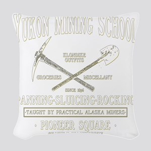 Yukon Mining School Woven Throw Pillow