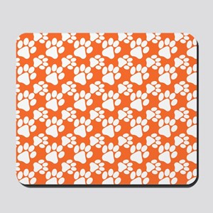 Dog Paws Clemson Orange-Small Mousepad