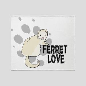 Ferret Love Throw Blanket