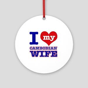 Cambodian Designs Round Ornament