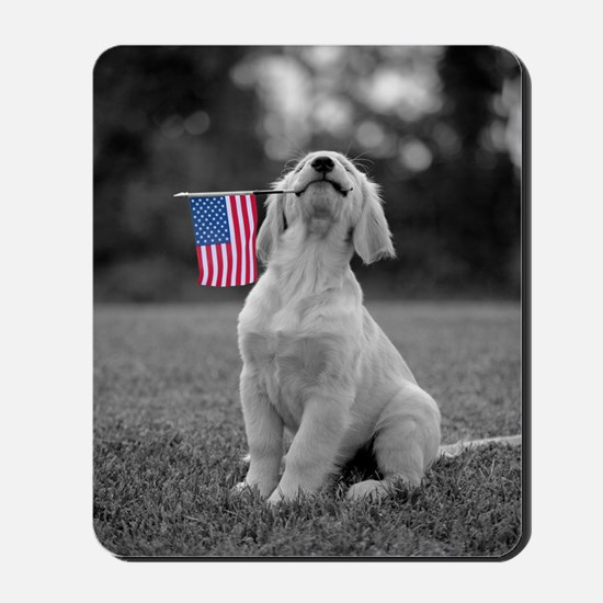 4th of July Patriotic Puppy Mousepad