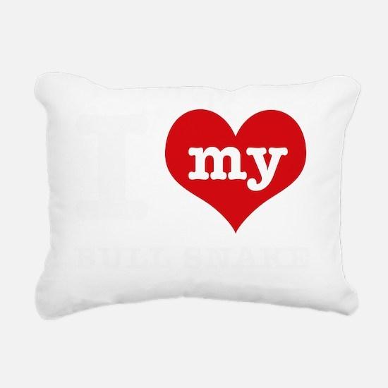 I love my Bull snake Rectangular Canvas Pillow