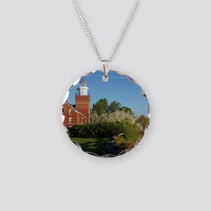 Big Bay Point Lighthouse Necklace Circle Charm