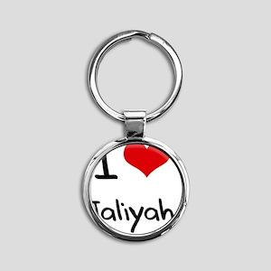 I Love Jaliyah Round Keychain