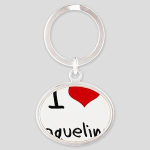 I Love Jaqueline Oval Keychain