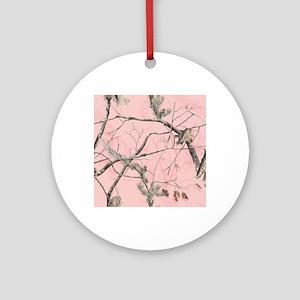 Realtree Pink Camo Round Ornament