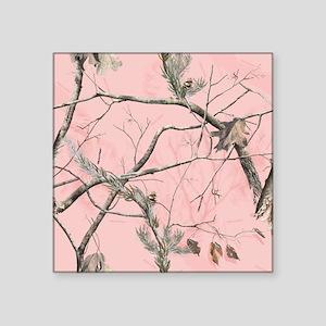 """Realtree Pink Camo Square Sticker 3"""" x 3"""""""