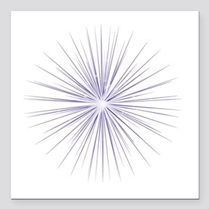 "Purple Fireworks Square Car Magnet 3"" x 3"""