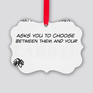 Tabby Cat designs Picture Ornament