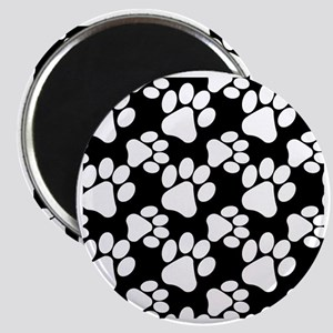 Dog Paws Black Magnet