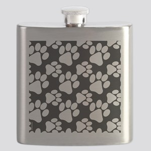 Dog Paws Black Flask