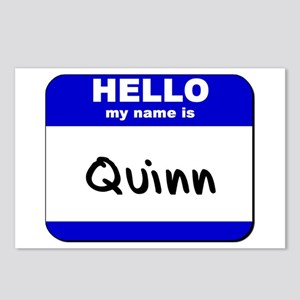 hello my name is quinn  Postcards (Package of 8)