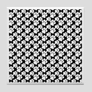 Dog Paws Black-Small Tile Coaster