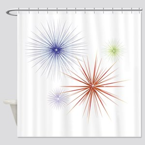 Fireworks3 Shower Curtain