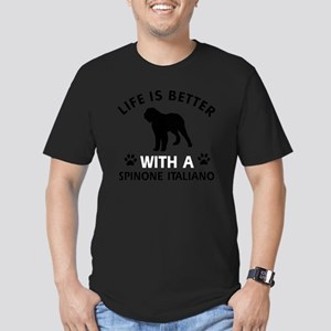 Spinone Italiano dog d Men's Fitted T-Shirt (dark)