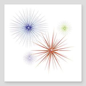 "Fireworks3 Square Car Magnet 3"" x 3"""