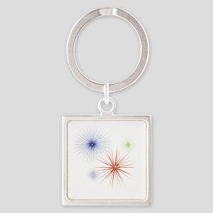Fireworks3 Square Keychain