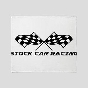 Stock Car Racing Throw Blanket