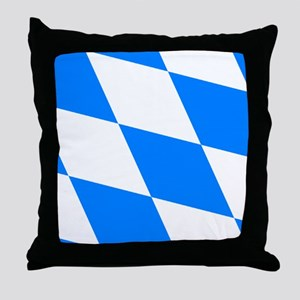 Bavarian flag (oktoberfest ) Throw Pillow
