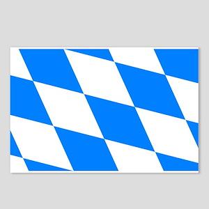 Bavarian flag (oktoberfest ) Postcards (Package of