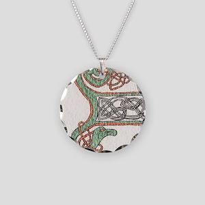 Celtic Artwork Detail Necklace Circle Charm