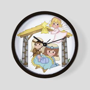Childrens Nativity Wall Clock