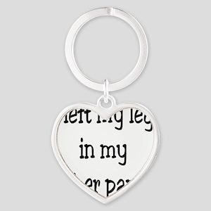 Left my leg... Heart Keychain