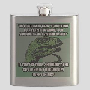 Philosoraptor On The NSA Flask