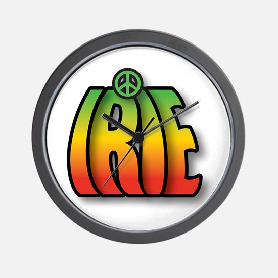 IRIE PEACE Wall Clock