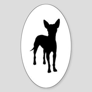 xoloitzcuintli dog Oval Sticker