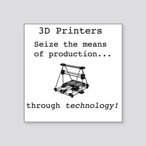 "3D Printer Revolution Square Sticker 3"" x 3"""