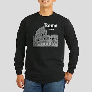 Rome_12X12_v2_White_Colos Long Sleeve Dark T-Shirt