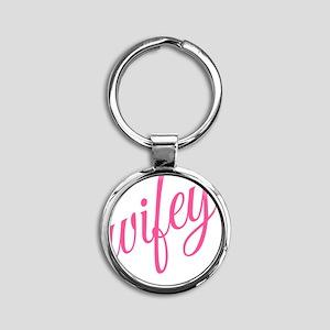 Wifey Round Keychain