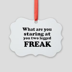 Two legged Freak Picture Ornament
