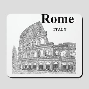 Rome_12X12_v2_Black_Colosseum Mousepad