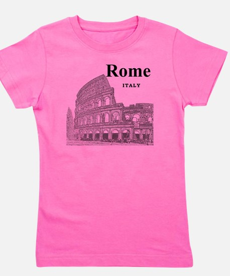 Rome_12X12_v2_Black_Colosseum Girl's Tee