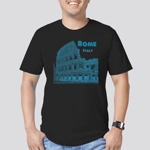 Rome_10x10_v1_Blue_Col Men's Fitted T-Shirt (dark)