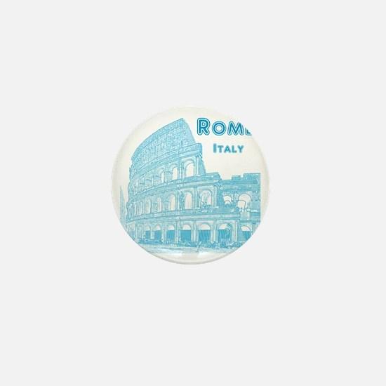 Rome_10x10_v1_Blue_Colosseum Mini Button