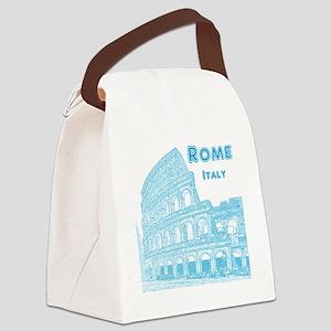 Rome_10x10_v1_Blue_Colosseum Canvas Lunch Bag